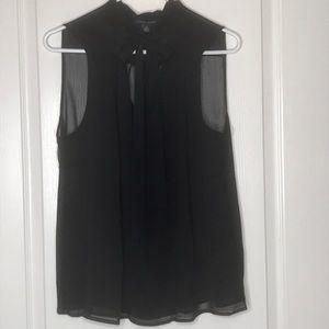 Tommy Hilfiger Tanglewood Black Sheer Blouse XL